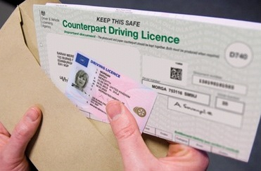 photocard licence and counterpart driving licence uk